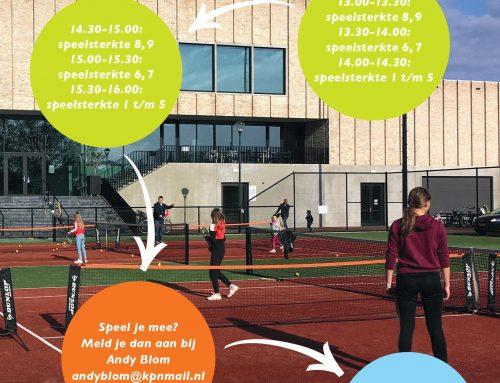 Gratis tennisclinics op 15 maart