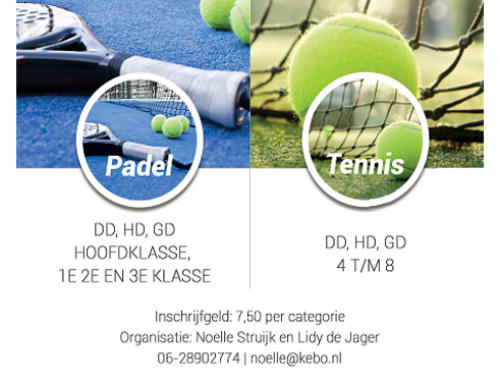 Appel en de Jong Bakkershaag Tennis en Padel Dubbelweekend 2021